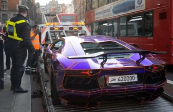 Police Cars For Sale >> 'Glow in the Dark' Lamborghini Aventador Seized | Autofluence