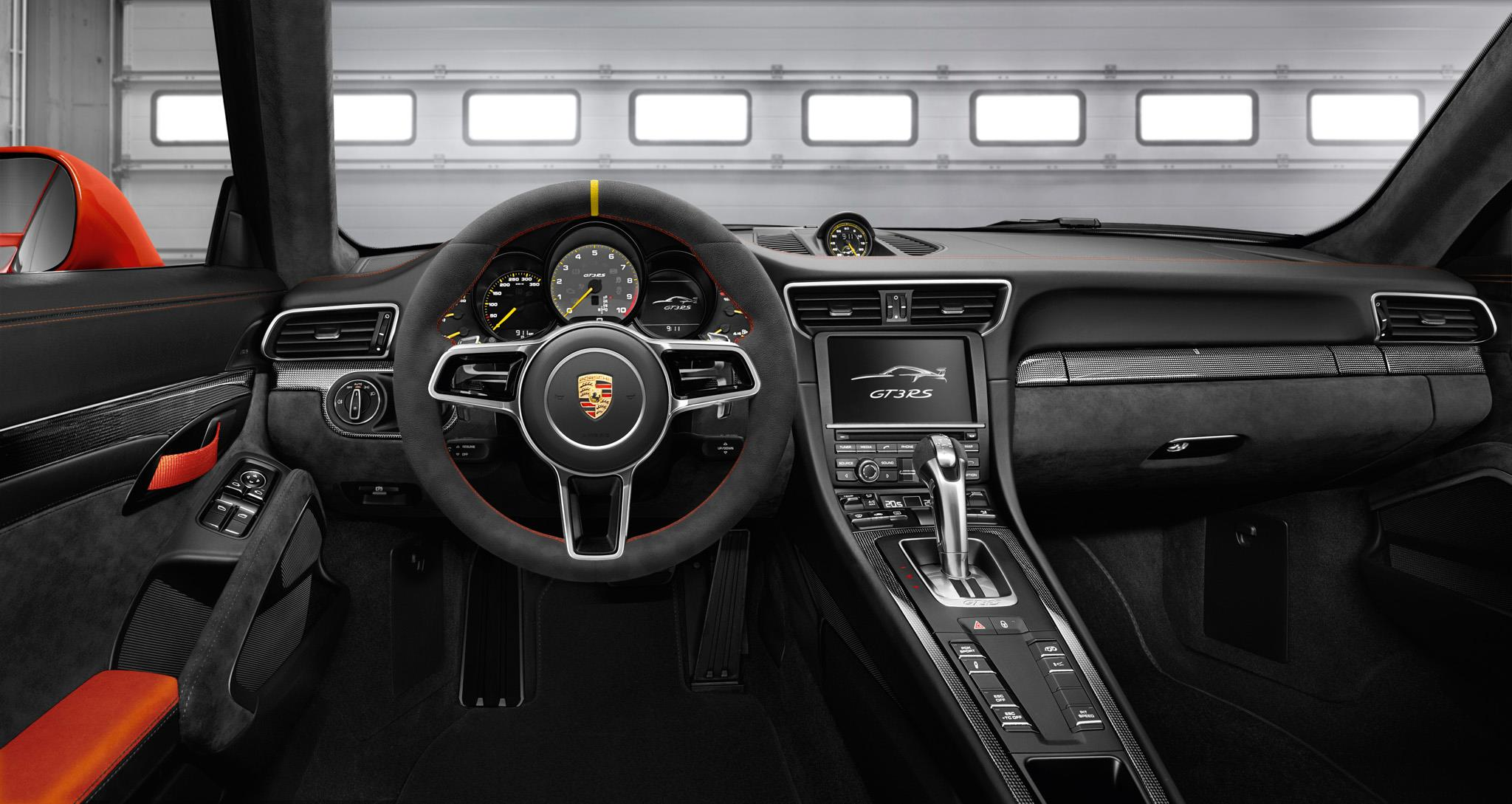 2016 porsche 911 gt3 rs interior detail pictures for Porsche 911 interieur