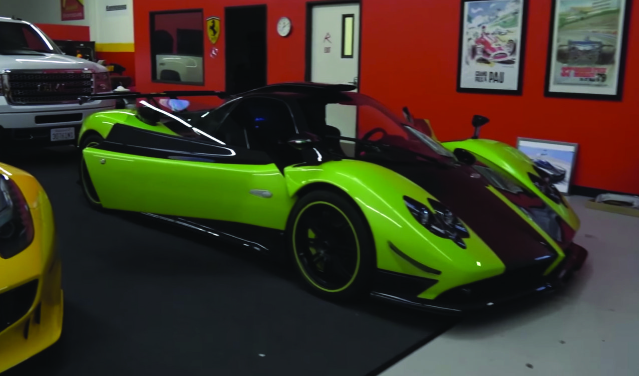 green pagani zonda cinque delivered in us. Black Bedroom Furniture Sets. Home Design Ideas