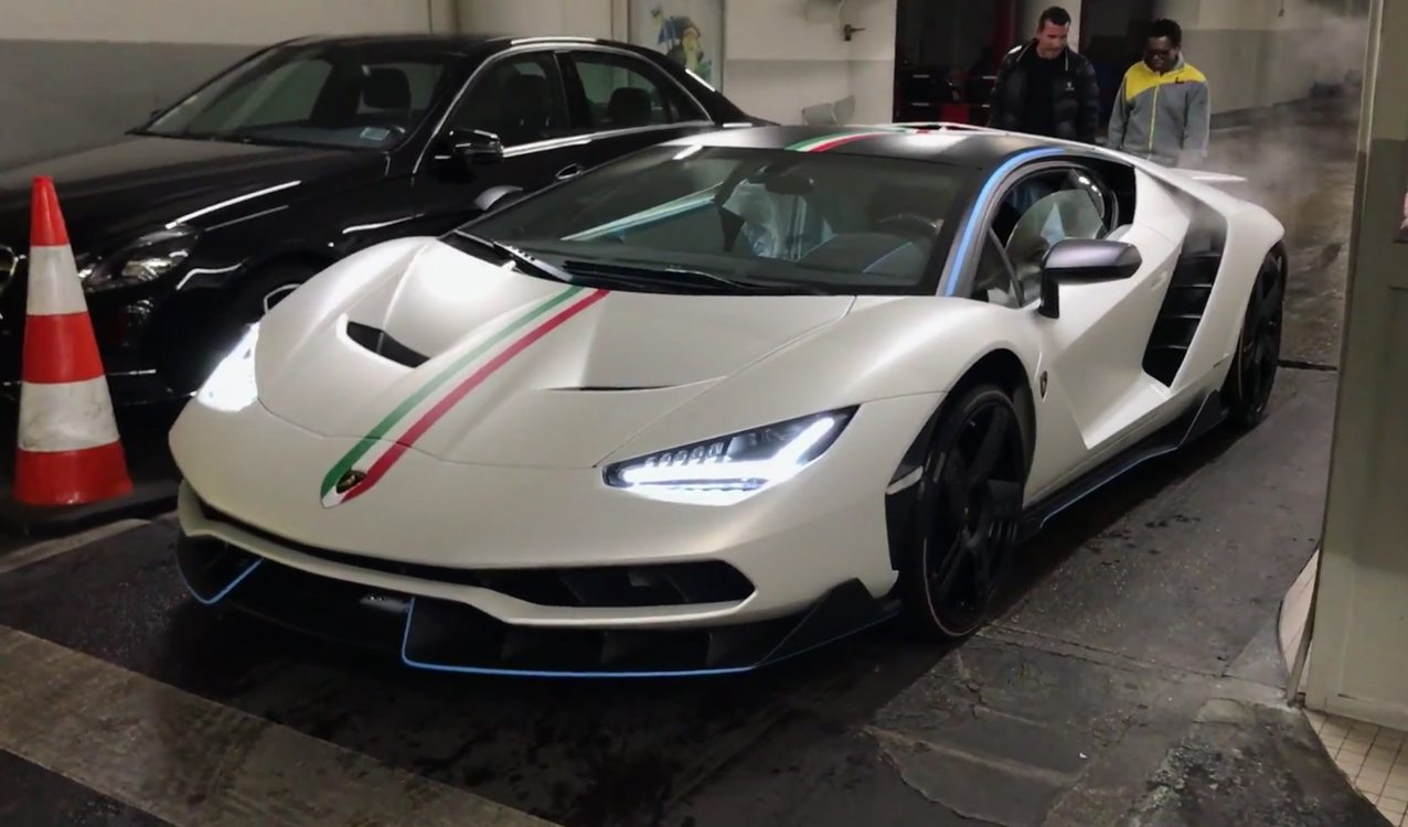 Wow First Customer Lamborghini Centenario Spotted On The Road In Paris