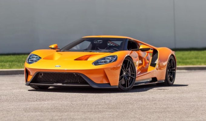 Delivery of a One-Off Arancio Borealis 2018 Ford GT