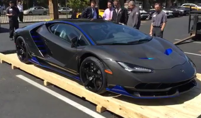 First Lamborghini Centenario Arrives In The United States At - Lamborghini newport beach car show 2018