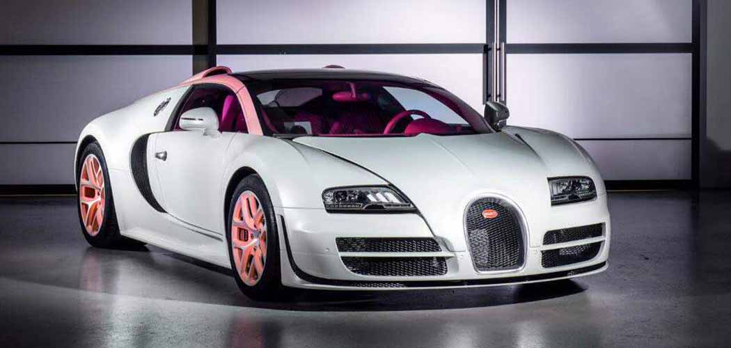 pink bugatti veyron grand sport vitesse cristal edition. Black Bedroom Furniture Sets. Home Design Ideas