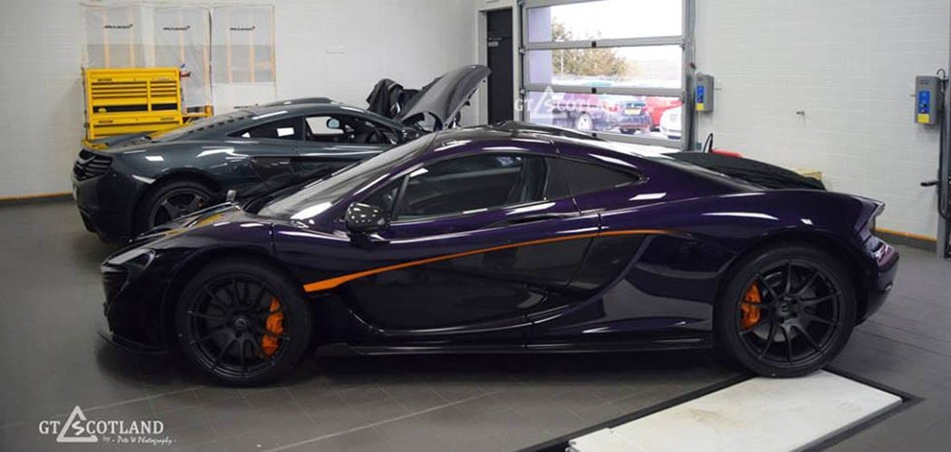 Mclaren P1 Orange >> Purple McLaren P1 is Third in Scotland