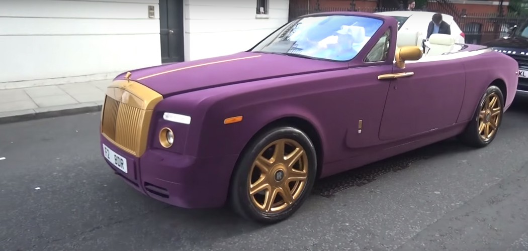 Purple Velvet And Gold Rolls Royce Phantom