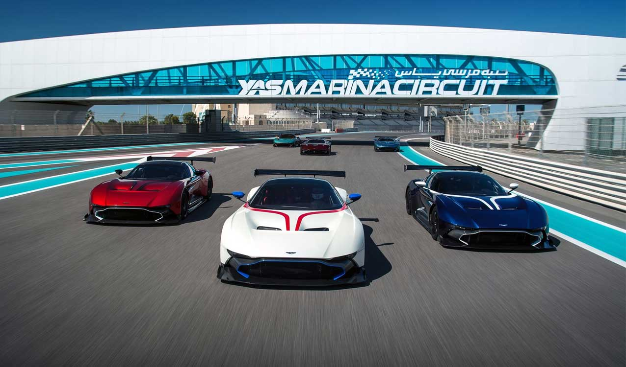 Six Aston Martins Race Together In Abu Dhabi