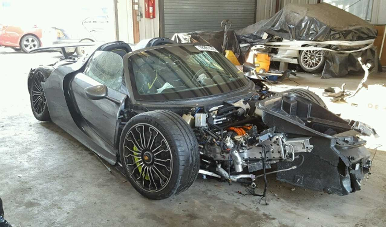 Wrecked Porsche 918 Spyder Up For Sale Again