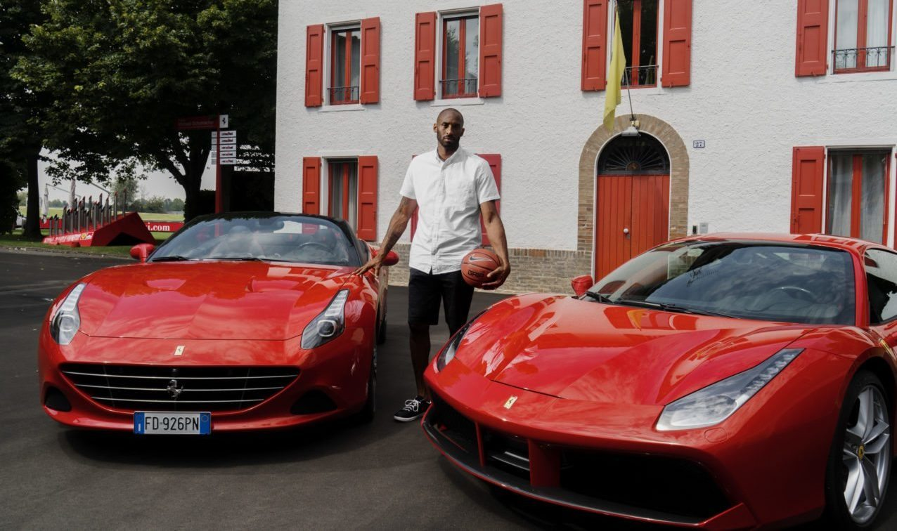Kobe Bryant Tests Out The Track At Ferrari In Maranello