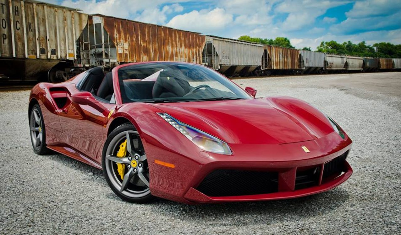 Rosso Mugello Ferrari 488 Spider For Sale