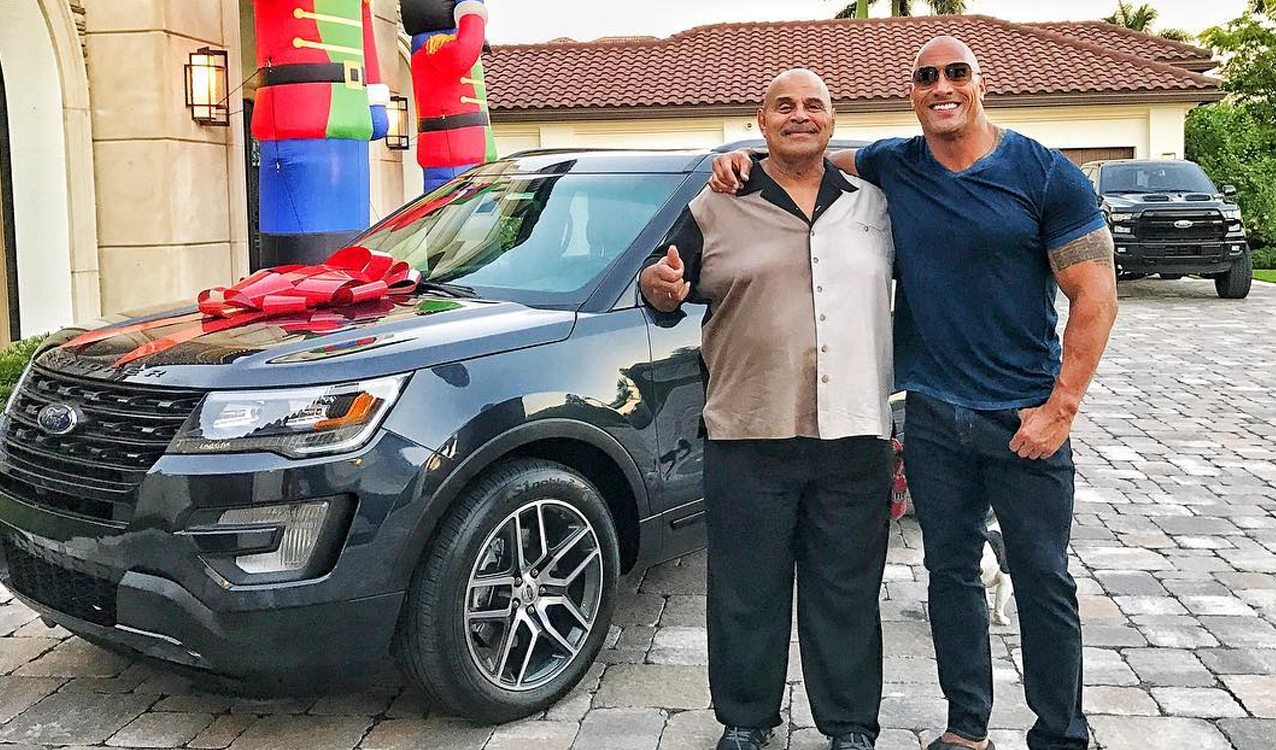the rock buys his dad a new ford explorer for christmas. Black Bedroom Furniture Sets. Home Design Ideas