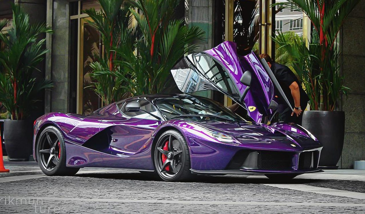 Purple Laferrari Belongs To Crown Prince Of Johor