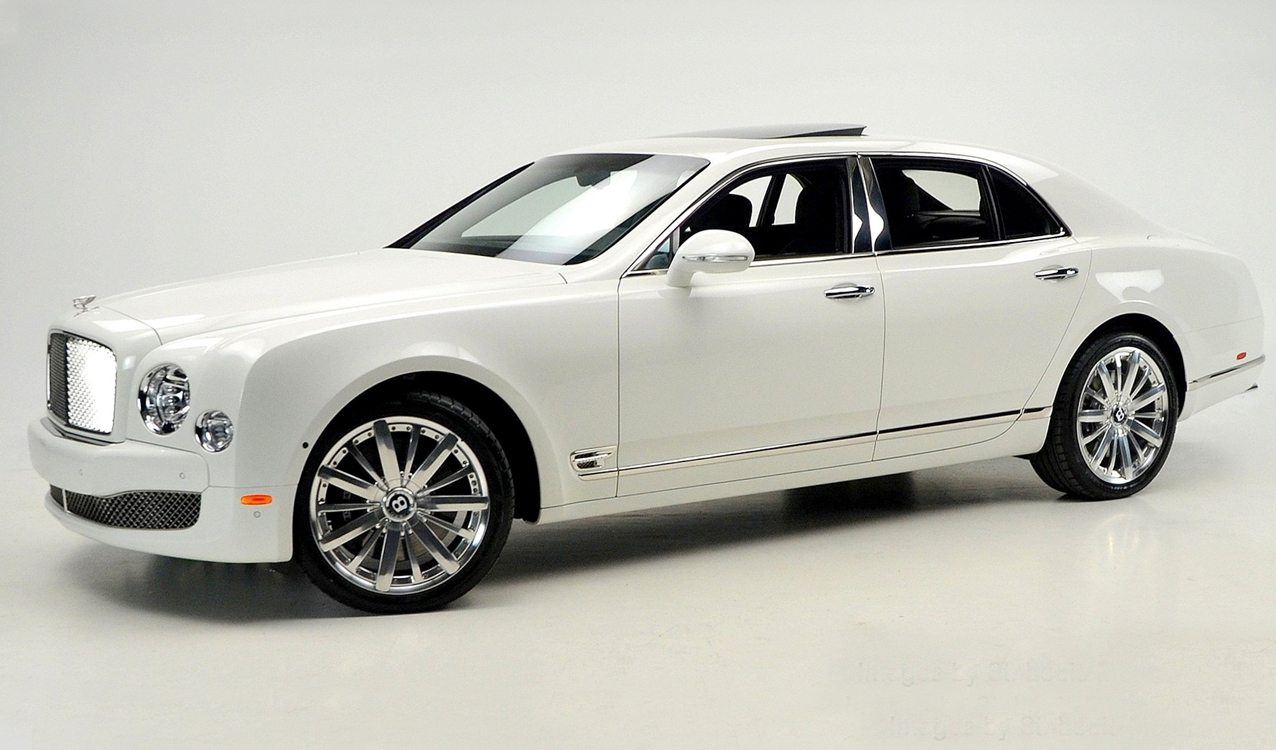 White On Black Bentley Mulsanne Mulliner For Sale