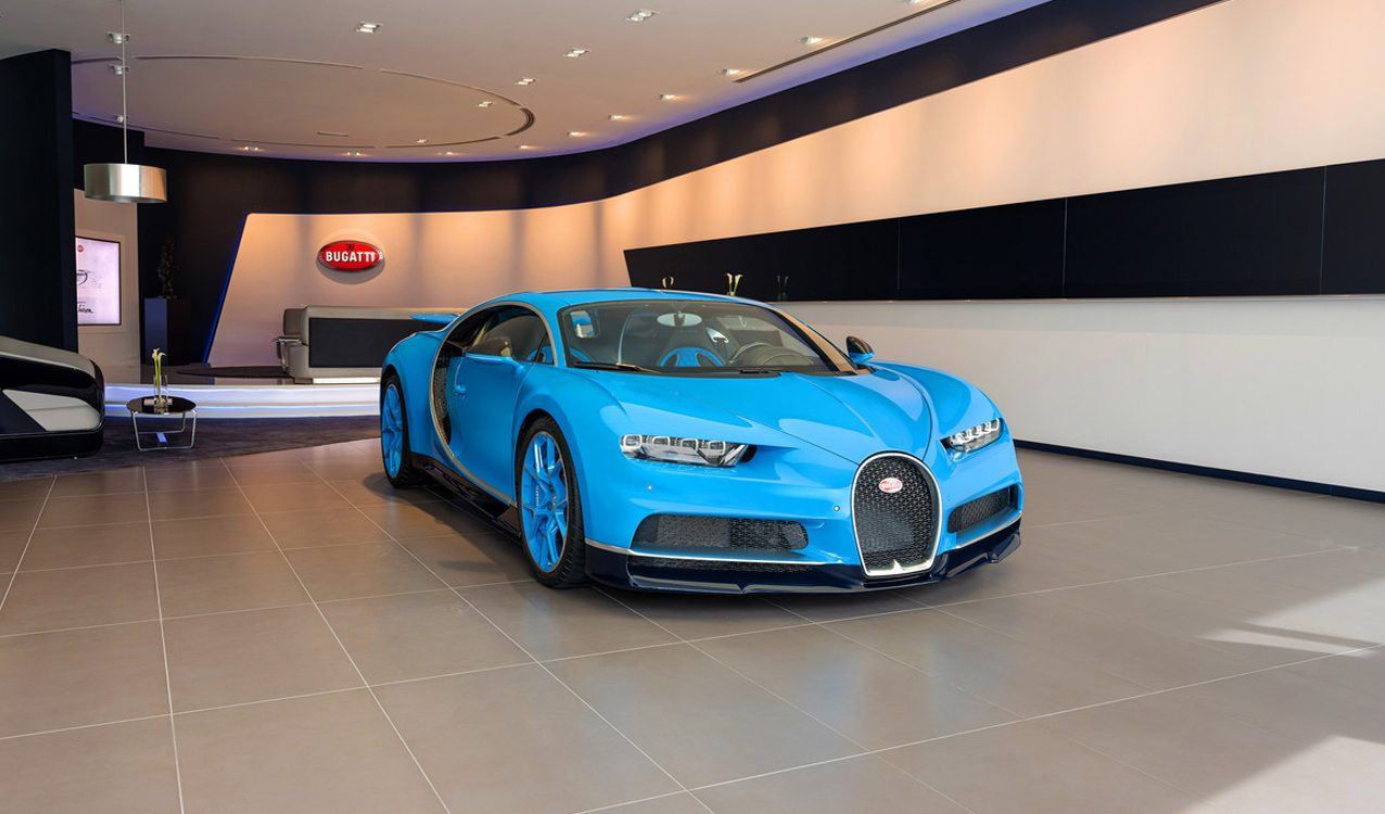 World S Largest Bugatti Showroom Opens Up