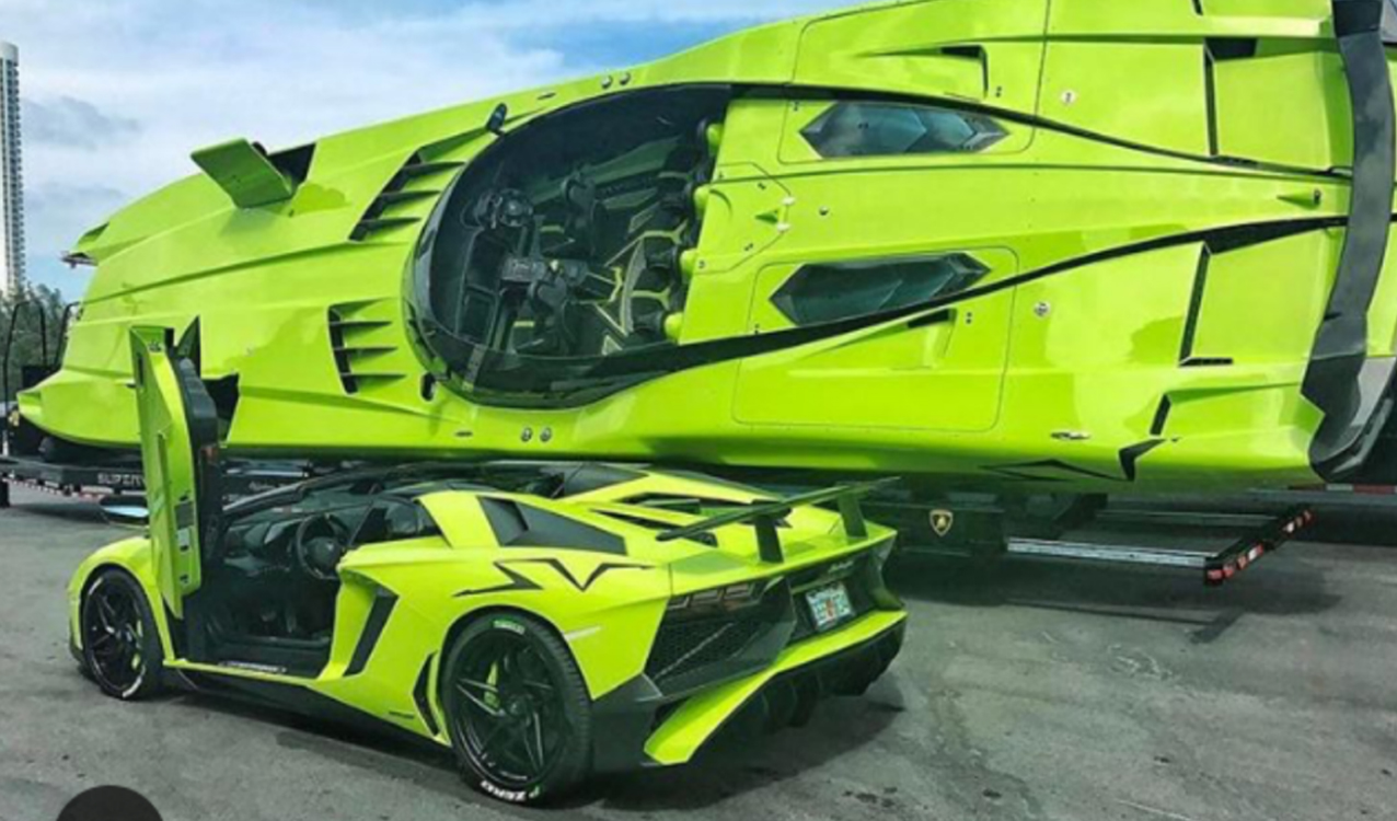 Are You Wearing A Matching Outfit Today? More Than Likely. You See,  Everyone Wants To Be Matching, But What About A Supercar And A Matching  Superboat? Sure!