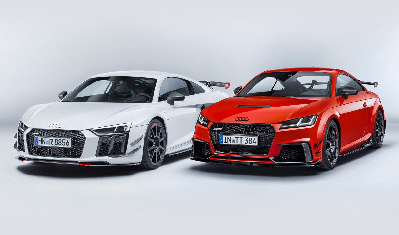 The New Audi R8 And TT May Already Look Aggressive As Ever When It Rolls  Off Of The Production Block, But The New Audi Sport Performance Parts Take  The Two ...