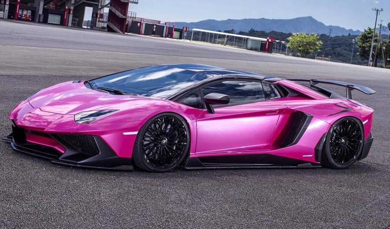 Liberty Walk Unleashes Pink Wide Body Lamborghini Aventador SV