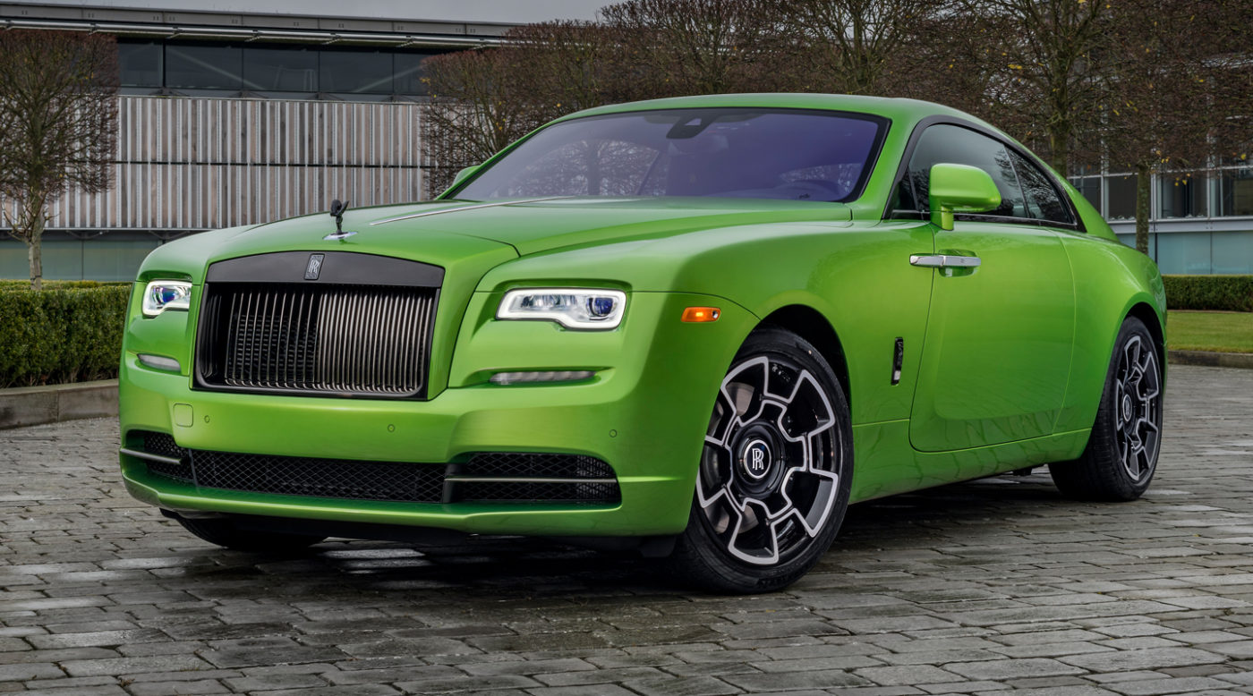 Only Java Green Rolls Royce Black Badge Wraith For Sale