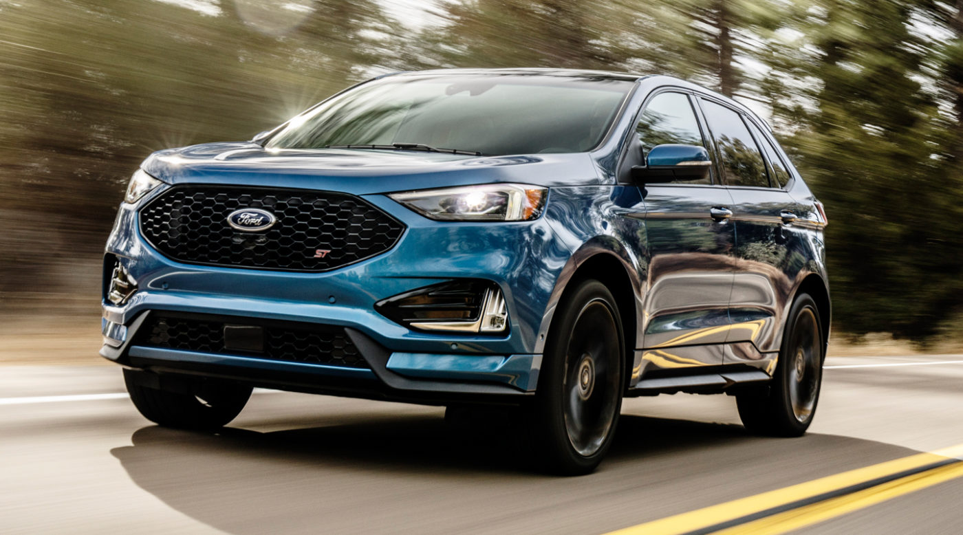 edge st revealed fords  performance suv