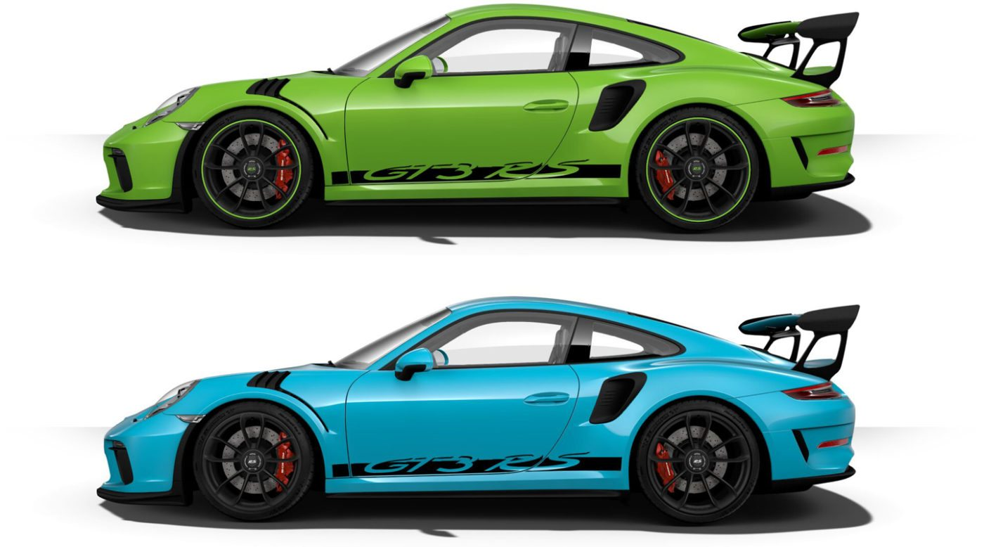 2019 porsche 911 gt3 rs color options. Black Bedroom Furniture Sets. Home Design Ideas
