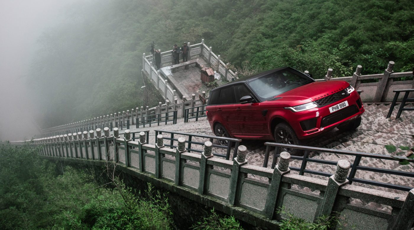 A World-First: Range Rover Drives Up 999 Steps to Heaven's ...