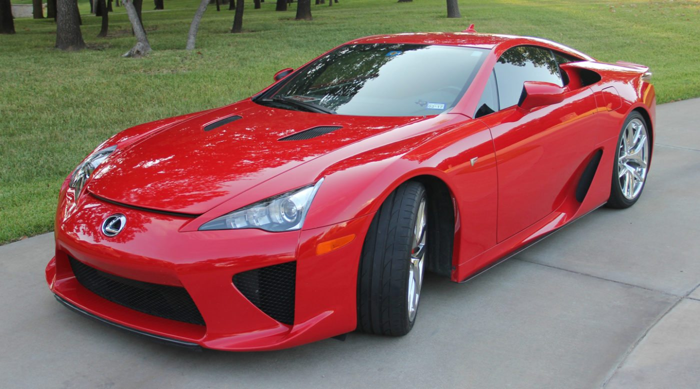 absolutely red lexus lfa looking for new owner. Black Bedroom Furniture Sets. Home Design Ideas