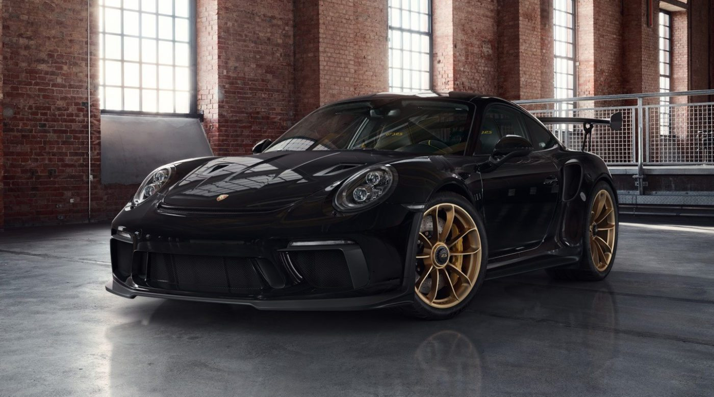 Porsche Exclusive 911 Gt3 Rs Is A Black And Gold Gem