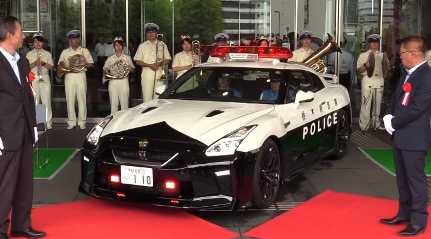 Racers Beware: Japan Just Got a Nissan GT-R Police Car