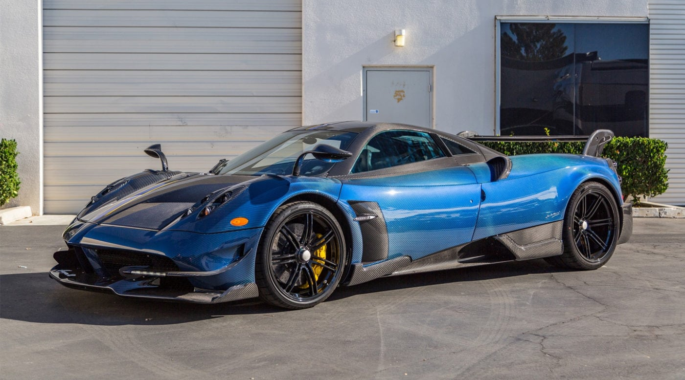 Blue Carbon Fiber Pagani Huayra Bc For Sale