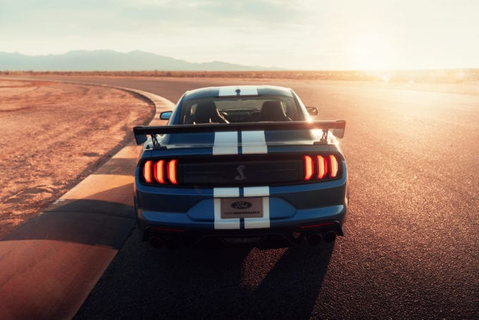 2020 Shelby GT500 offers this view to anyone who comes up against it.