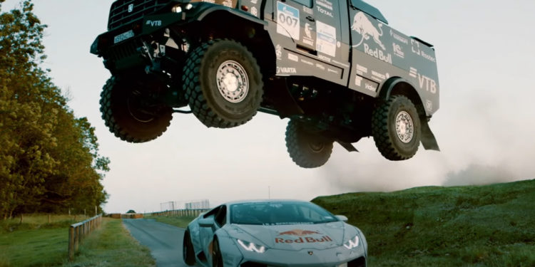 Mad Mike's New Lamborghini Drift Car Takes On Kamaz Truck