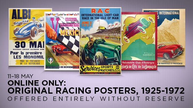 RM Sotheby's Opens Bidding for Original Racing Posters