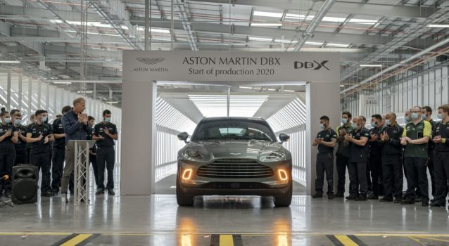First Aston Martin DBX SUV Rolls Off of Production Line