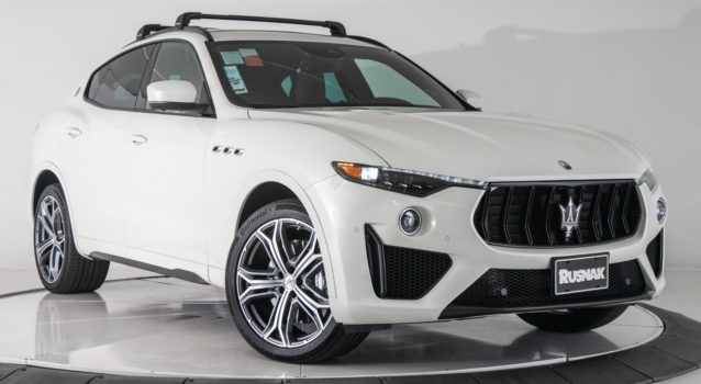 Pair of Exquisite Bianco Maserati Levante Trofeos for Sale- Car News
