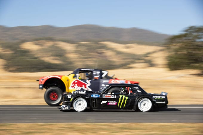 Not even a Trophy Truck can beat the Hoonicorn Mustang