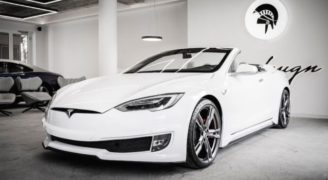 Ares Design Transforms Tesla Model S Into 2-Door Convertible