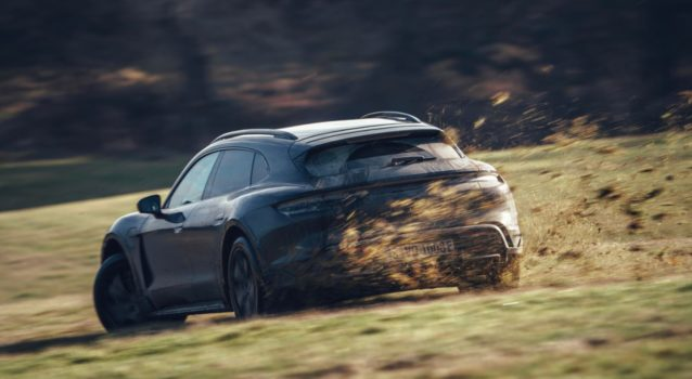 2022 Porsche Taycan Cross Turismo is Testing Around the World